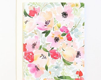 Anemone & Roses - A2 Greeting Card