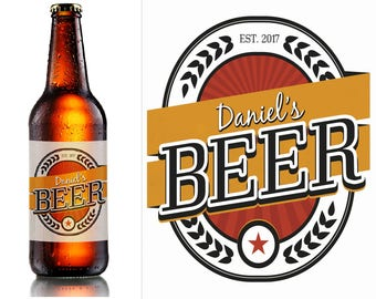 Custom Beer Bottle Labels, personalised beer label, Home Brew labels, beer label