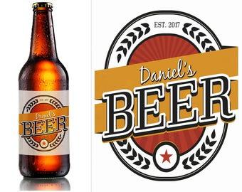 Benutzerdefinierte Bier Flaschenetiketten, personalisierte Bier Label Hause brauen Etiketten, Bier label