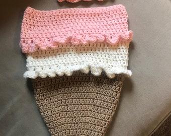 Crochet Ice Cream Baby Set