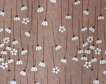 80s vintage fabric, curtain fabric, flower print