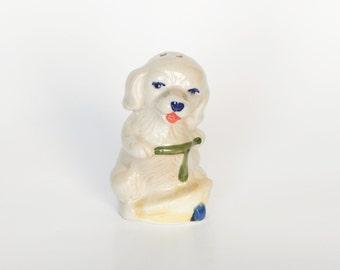 Soviet Salt Shaker Vintage Porcelain Figurine Shaker Dog Cute Salt Shaker Housewares 80's