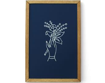 11x17 Flower Print
