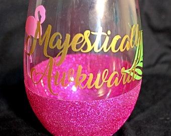 Majestically Awkward Flamingo Cup