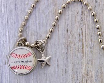 Baseball Charm, Kids Necklace, Childrens Jewelry, Girls Necklaces, Girls Bracelets, Interchangeable jewelry, Kids Bracelet, Photo Jewelry,
