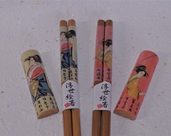 Chopsticks and chopstick rests    Traditional crafts of Japan. It is the unused goods.