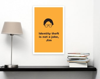 The Office Identity Theft Printable Dwight Schrute and Jim Halpert