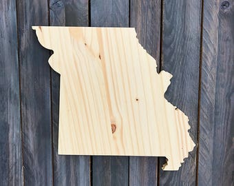 CUSTOMIZABLE Missouri, State of Missouri Wood Decor, Rustic State Home Decor, Wedding Housewarming Gift State, Other Sizes Available