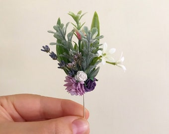 Wedding boutonniere | Wildflowerlower Boutonniere | Dried Floral Corsage | Vintage Boutonniere | Wedding Accessories