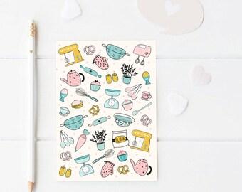 A5 notebook, baking design bakers journal