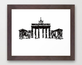 Brandenburg Gate from Berlin City Fine Art Print - Berlin city, Architecture, Brandenburg Gate, Germany