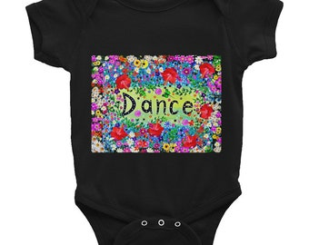 Dance Floral Onesie -Black