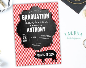 Graduation Party Invitation, Graduation Invitation, Graduation BBQ, Barbeque Invitation, Barbecue Invitation, Graduation Invite