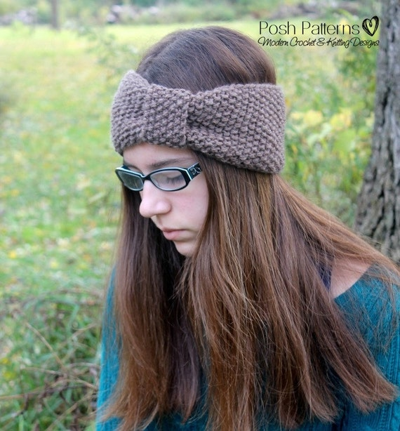 Knitting PATTERN Headband Knitting Patterns Knit Headband