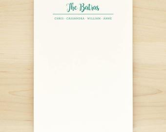 CLUB Family Personalized Notepad - Custom Letterhead Families Kids Children School
