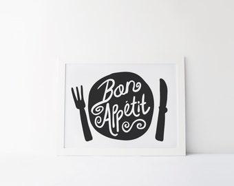 Guten Appetit Französisch bon appetite etsy