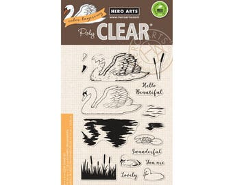 Hero Arts: CM228 Color Layering Swan, Clear Stamps, Stamping, 2018 Spring Catalog, Paper Crafting, Scrapbooking, Cardmaking