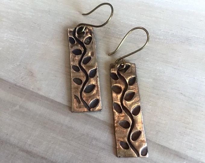 Handcrafted Vine Earrings