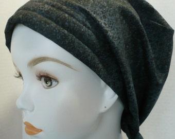 Black Floral Cancer Chemo Scarf Hat Turban Hair Head Wrap Cap Hair Loss Alopecia Headcover