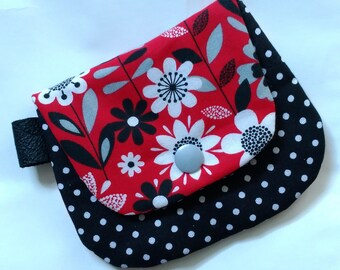 Plain Jane coin purse Red and Black