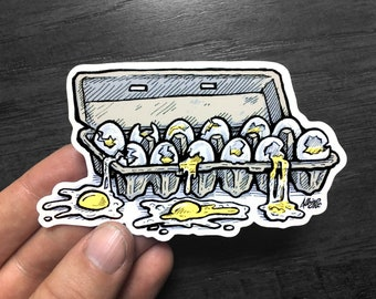 There Is No Dana, Only Zuul's Dozen Eggs - Sticker Decal - FREE US SHIPPING