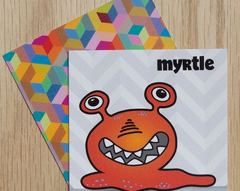 "Replacement Card ""Myrtle"" — Oh Those Monsters: Memory Game"