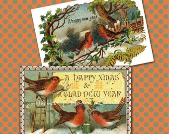 Vintage New Years Collage Sheet 3