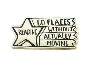 Reading Star Enamel Pin