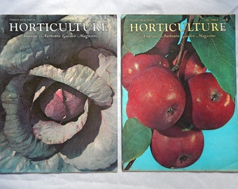 Horticulture Magazine October and November 1960 America's Authentic Garden Magazine Vintage