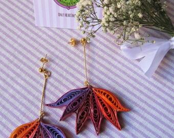 Maple leaf paper filigree Earrings