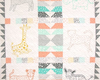 Savannah Cozy Quilt Kit - Finished Size: 42 x 50 fabric by Gingiber