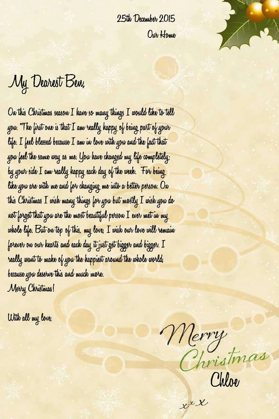 Personalised romantic christmas letter instant download personalised romantic christmas letter instant download template spiritdancerdesigns Choice Image