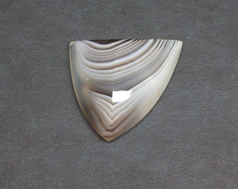 Botswana Agate Huge Loose Natural and Untreated Freeform Designer Knife Edge Triangular Banded Cabochon cab