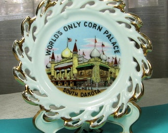 Vintage Souvenir Collectors Plate Corn Palace South Dakota