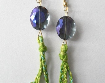Rainforest Glam Dewdrop and Tassel Earrings in Bright
