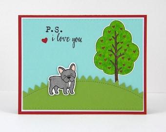 French Bulldog Card, Frenchie Card, Frenchie Valentine, French Bulldog Valentine, Frenchie Love Card, French Bulldog Love Card
