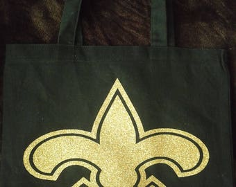 New Orleans Saints tote bag/Writing on back/Design on front