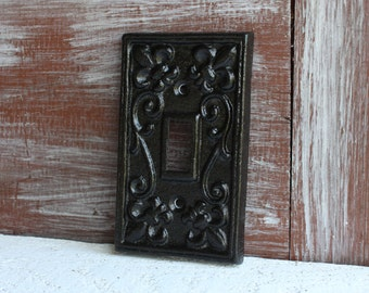 Black Light Switch Plate, Light Switch Cover, Iron Metal Single LightSwitch Cover, Lightswitch Plate, Decorative Switchplates
