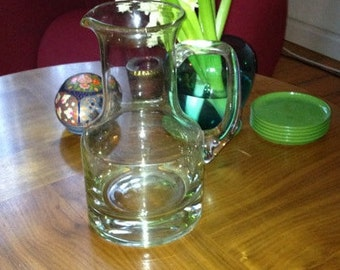 Elegant Glass Carafe from the 70ies