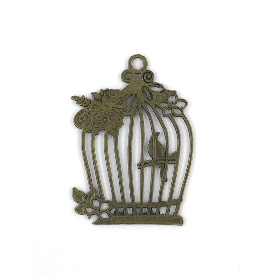 """Great charm - bronze """"cage"""""""