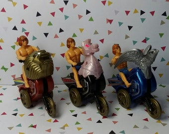 Vintage 1980s Galaxy Riders Fiction Powered Bootleg Masters of the Universe Toys