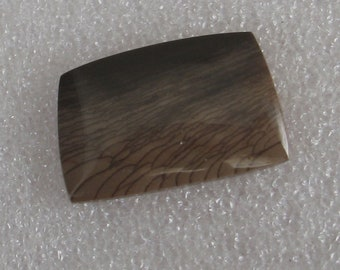 Brown Picture Jasper Stone Rectangular Cabochon 29mm