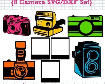 8 Camera SVG DXF cut files