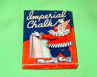 Imperial Chalk box vintage original old school black board slate clown cover
