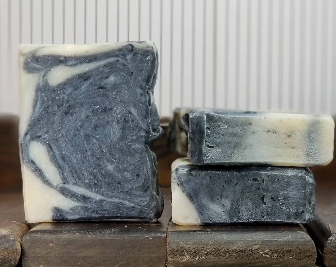 Licorice Lather Soap --  All Natural, Handmade, Barely Scented, Hot Process, Vegetarian, Licorice, Activated Charcoal Soap, Free Shipping
