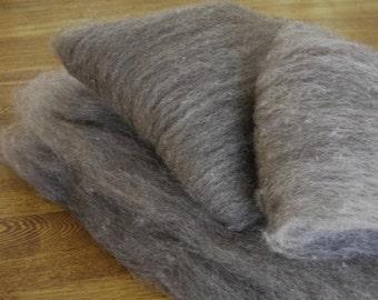 Shetland Grey Spinning Batts - 4 ounces
