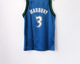 vintage stephon marbury minnesota timberwolves champion jersey youth size medium 10-12 deadstock NWT 90s