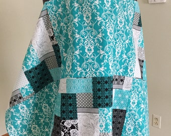 Breastfeeding Cover - Nursing Cover - Teal Cover - Breastfeeding - Nursing