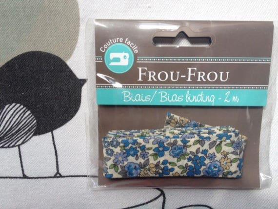 BIAS flower blue - Frou-Frou