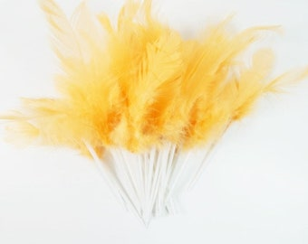 20 Soft Orange Feathers In A Plastic White Point Feathers Craft Feathers Unique Feathers Wedding Feathers Hat Embellishment